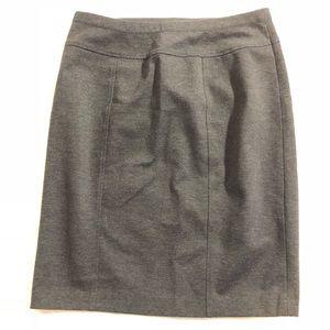 Ellen Tracy mini pencil skirt medium dark gray